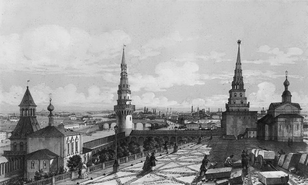 гравюры старой москвы: